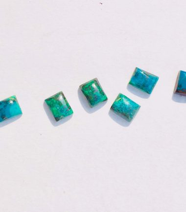 12x16mm Natural Chrysocolla Rectangle Cabochon
