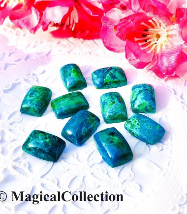 10x14mm Natural Chrysocolla Rectangle Cabochon